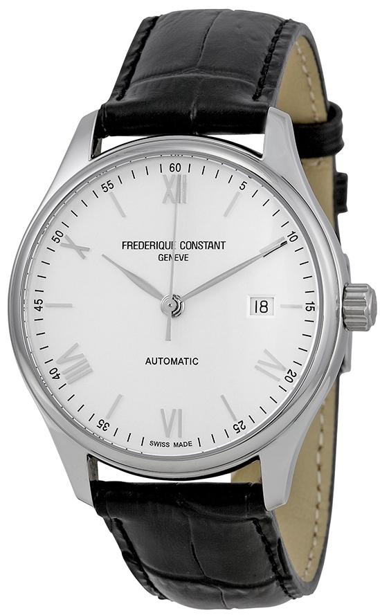 Frederique Constant Classics Herreklokke FC-303SN5B6 Hvit/Lær Ø40 mm - Frederique Constant
