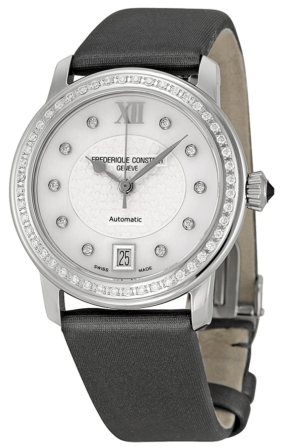 Frederique Constant Ladies Automatic Dameklokke FC-303WHD2PD6 Tekstil - Frederique Constant