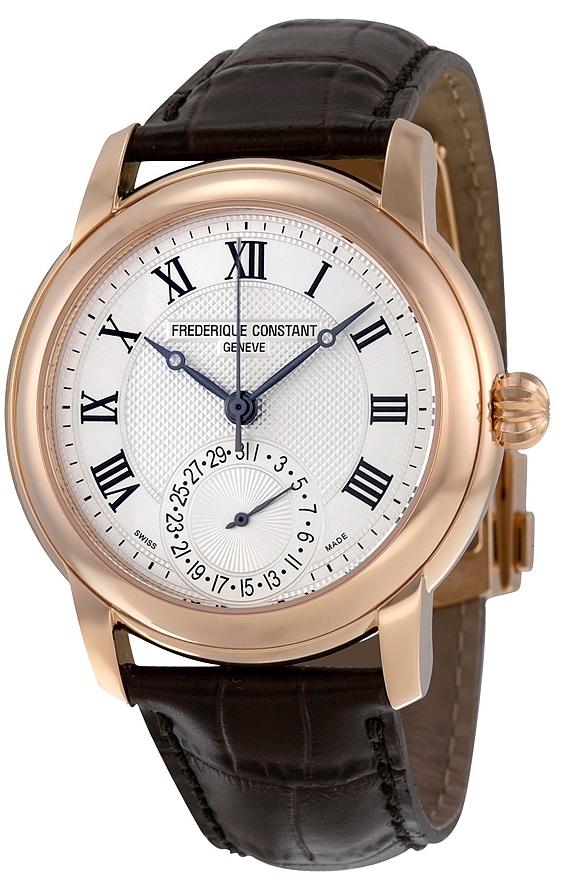 Frederique Constant Classics Herreklokke FC-710MC4H4 Sølvfarget/Lær - Frederique Constant