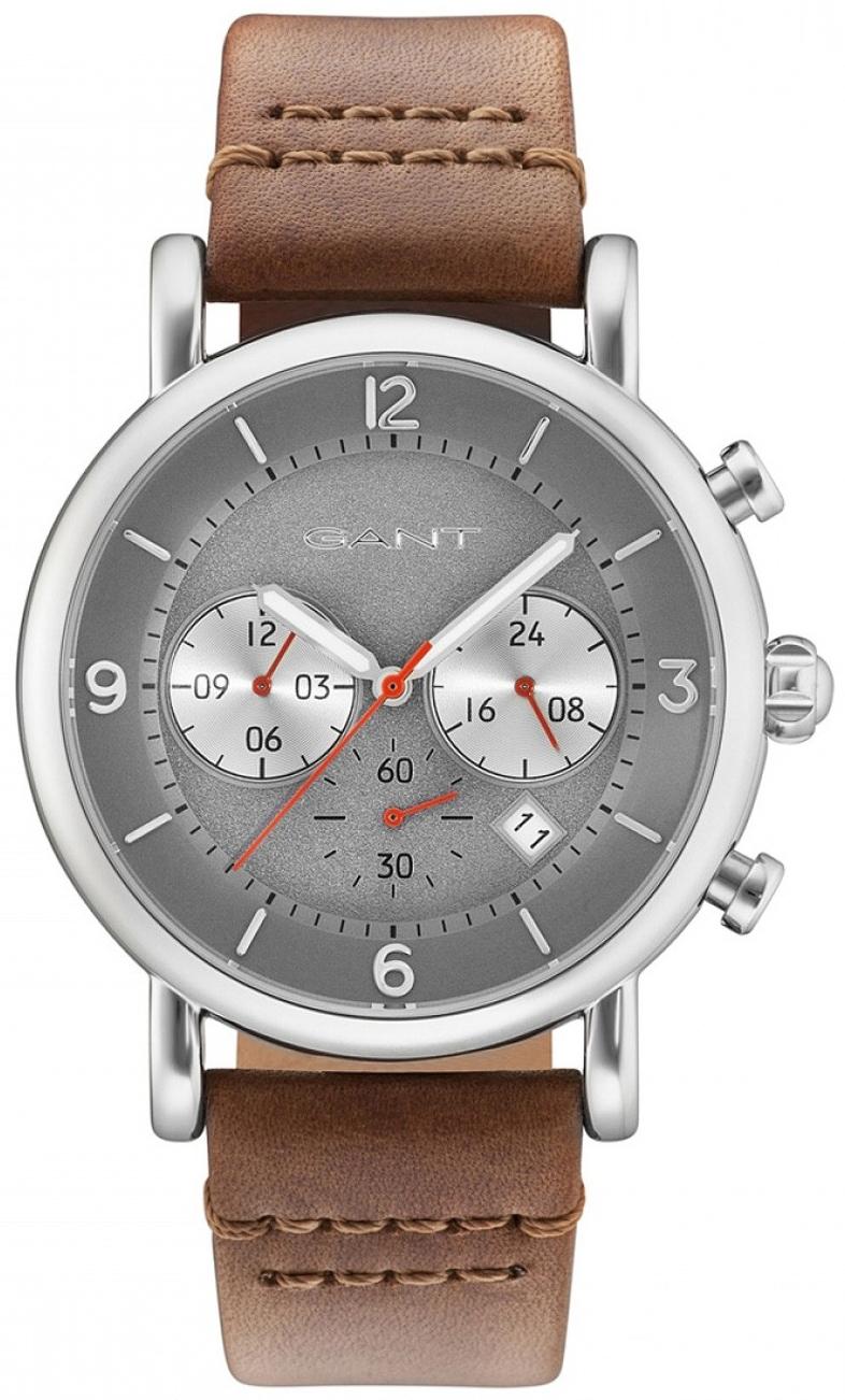 Gant 99999 Herreklokke GT007008 Grå/Lær Ø44 mm - Gant