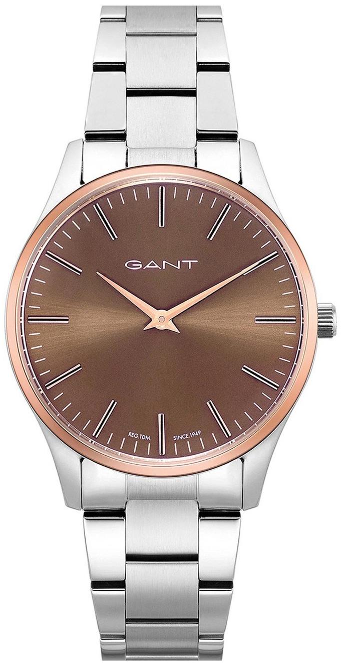 Gant 99999 Dameklokke GTAD05200299I Brun/Stål Ø35 mm - Gant