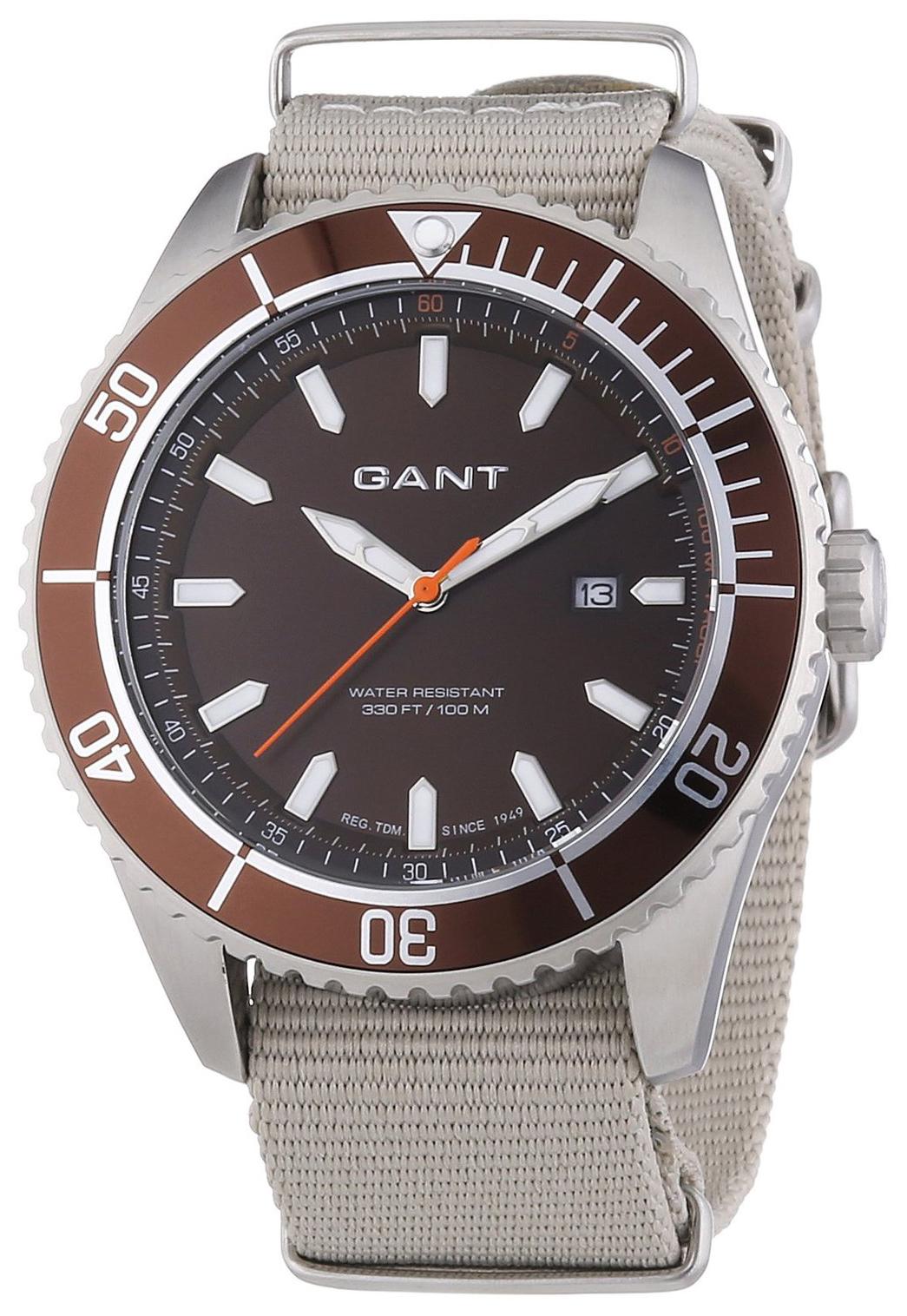 Gant Seabrook Herreklokke W70633 Brun/Tekstil Ø45 mm - Gant