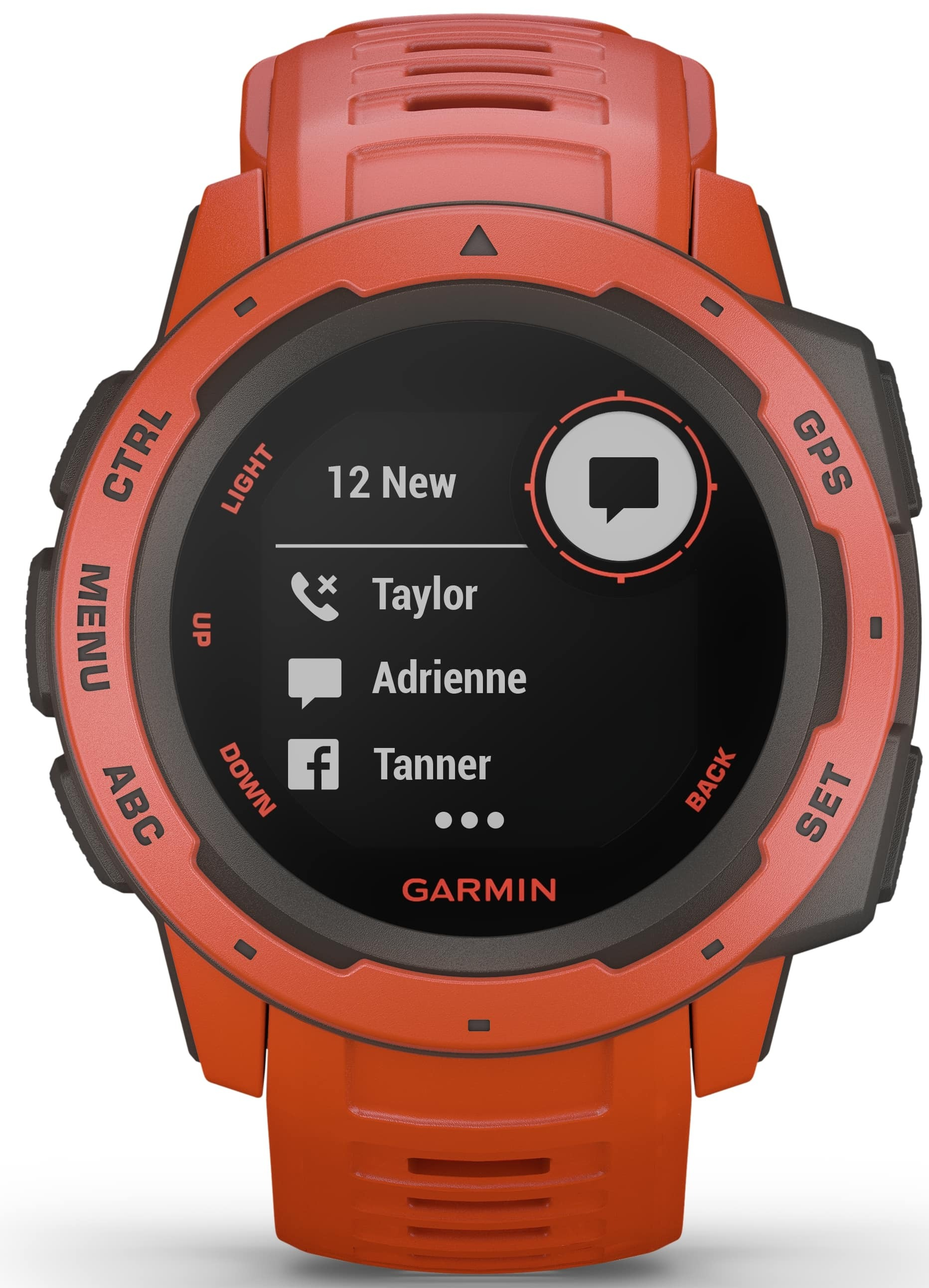 Garmin Instinct 010-02064-02 Sort/Gummi Ø45 mm - Garmin