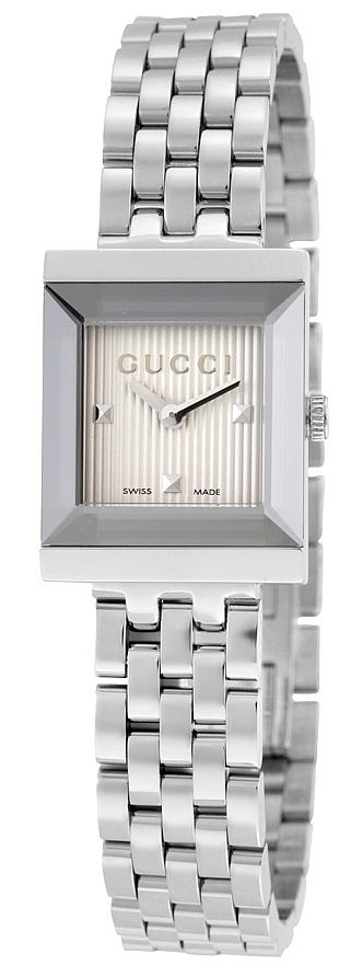Gucci G- Frame Dameklokke YA128402 Sølvfarget/Stål - Gucci
