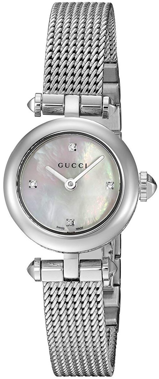 Gucci Diamantissima Dameklokke YA141512 Hvit/Stål Ø22 mm - Gucci