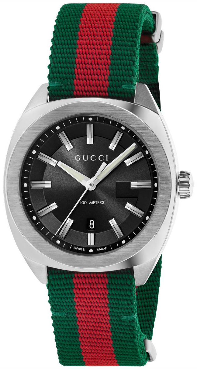 Gucci 99999 Herreklokke YA142305 Sort/Tekstil Ø41 mm - Gucci