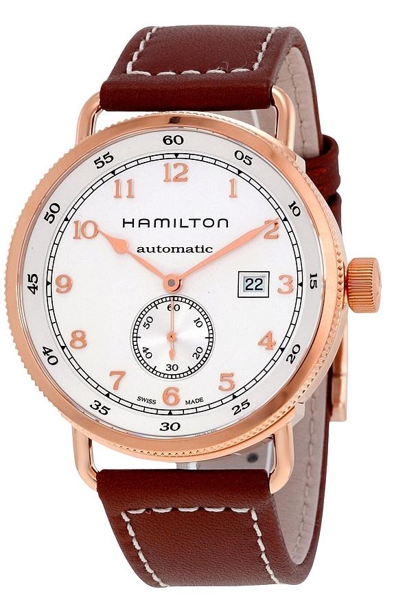 Hamilton Khaki Herreklokke H77745553 Hvit/Lær Ø43 mm - Hamilton
