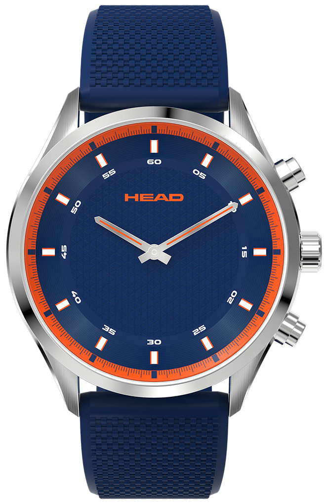 HEAD Advantage Herreklokke HE-002-02 Blå/Gummi Ø42 mm - HEAD