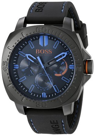 Hugo Boss Sao Paulo Herreklokke 1513242 Sort/Gummi Ø46 mm - Hugo Boss
