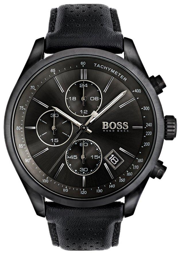 Hugo Boss Chronograph Herreklokke 1513474 Sort/Lær Ø43 mm - Hugo Boss