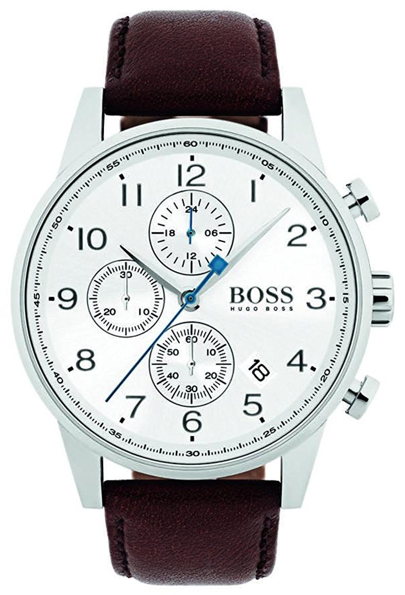 Hugo Boss Chronograph Herreklokke 1513495 Hvit/Lær Ø44 mm - Hugo Boss