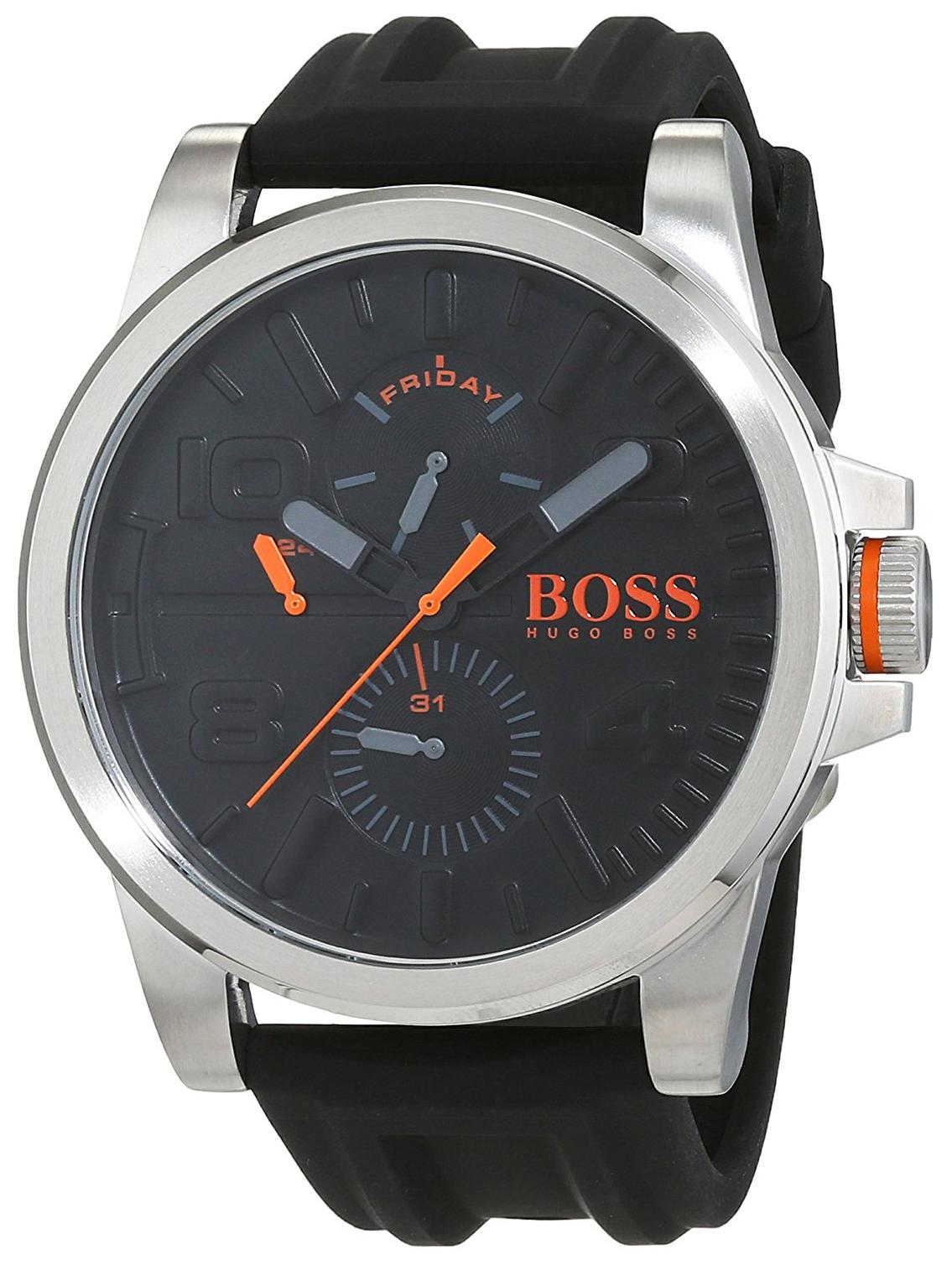 Hugo Boss 99999 Herreklokke 1550006 Sort/Gummi Ø48 mm - Hugo Boss