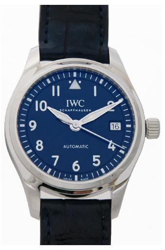 IWC Pilots Classic Herreklokke IW324008 Blå/Lær Ø36 mm - IWC