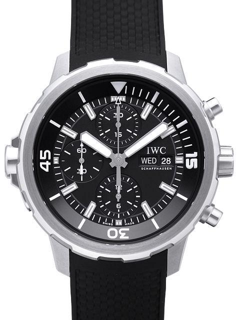 IWC Aquatimer Chronograph Herreklokke IW376803 Sort/Gummi Ø44 mm - IWC