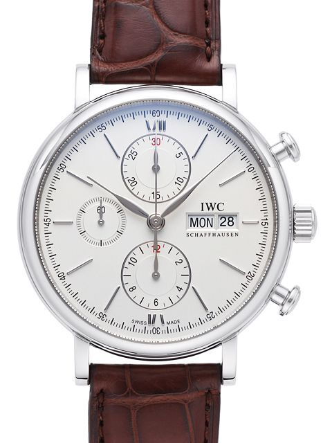 IWC Portofino Chronograph Herreklokke IW391007 Sølvfarget/Lær Ø42 - IWC