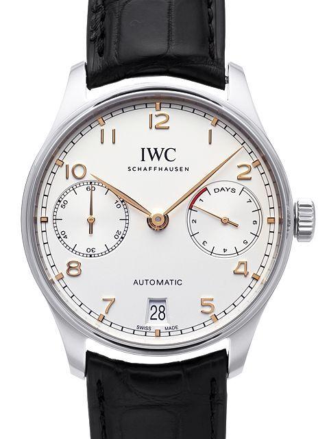 IWC Portuguese Herreklokke IW500704 Sølvfarget/Lær Ø42.3 mm - IWC