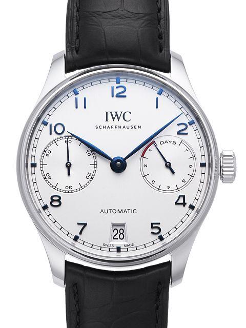 IWC Portuguese Herreklokke IW500705 Sølvfarget/Lær Ø42.3 mm - IWC