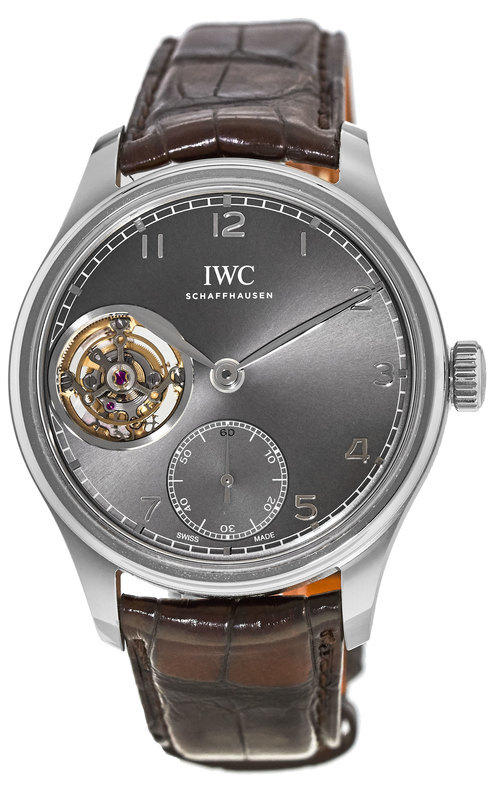 IWC Portuguese Herreklokke IW546301 Grå/Lær Ø43 mm - IWC