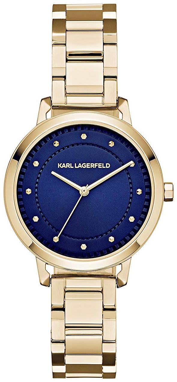 Karl Lagerfeld Vanessa Dameklokke KL1821 Blå/Gulltonet stål Ø34 mm - Karl Lagerfeld