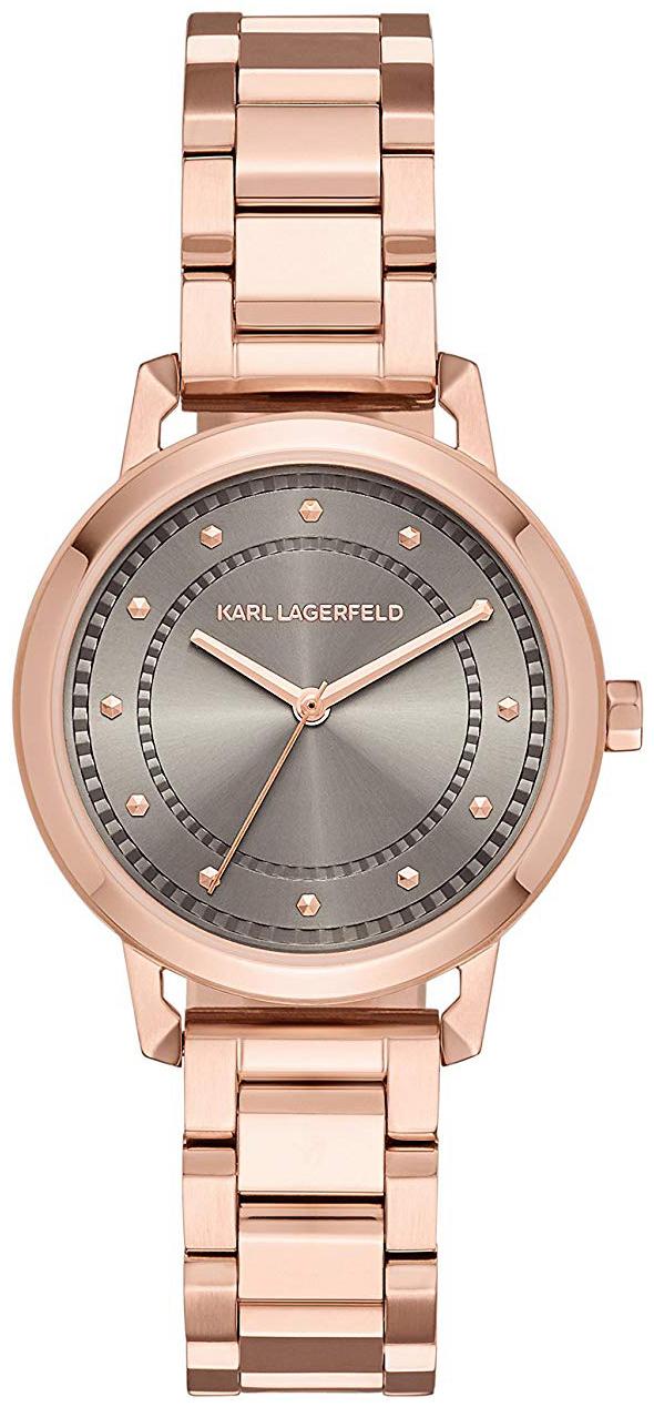 Karl Lagerfeld Vanessa Dameklokke KL1822 Grå/Rose-gulltonet stål - Karl Lagerfeld