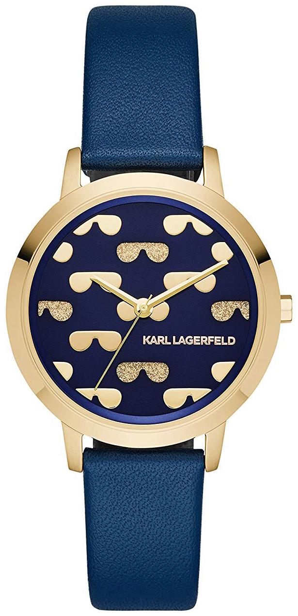 Karl Lagerfeld Camille Dameklokke KL2229 Blå/Lær Ø36 mm - Karl Lagerfeld