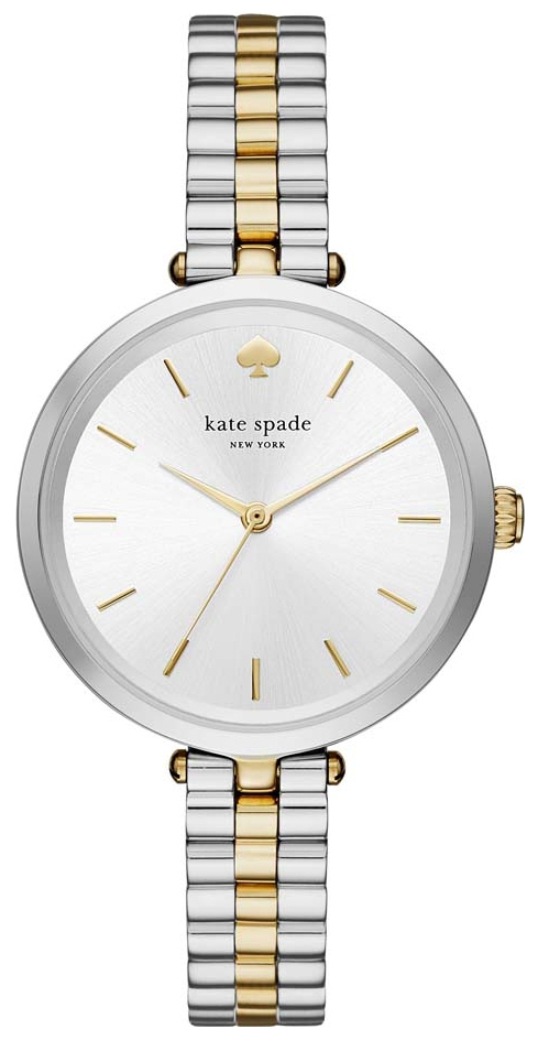 Kate Spade 99999 Dameklokke KSW1119 Sølvfarget/Gulltonet stål Ø34 - Kate Spade