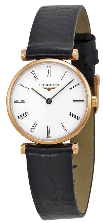 Longines Grande Classique Dameklokke L4.209.1.91.2 Hvit/Lær Ø24 mm - Longines