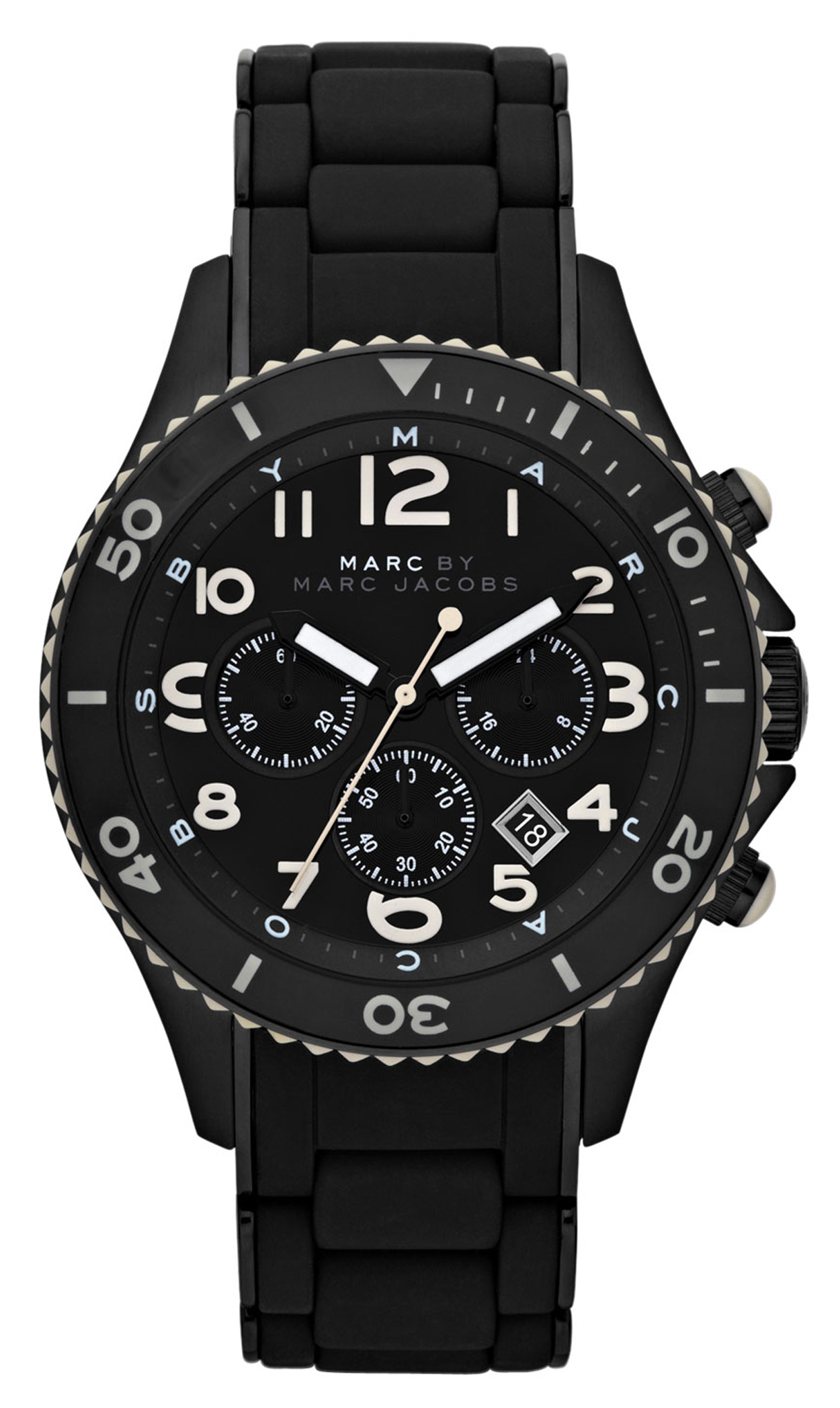 Marc by Marc Jacobs Rock Chrono Herreklokke MBM2583 Sort/Stål Ø46 mm - Marc by Marc Jacobs