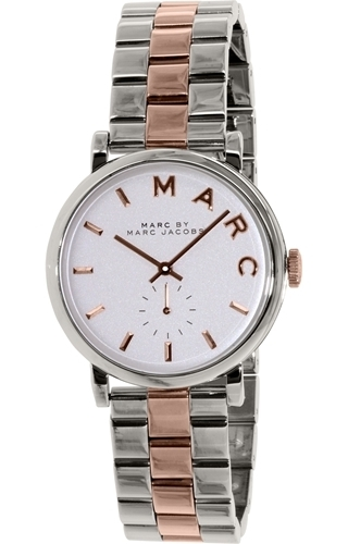 Marc by Marc Jacobs 99999 Dameklokke MBM3312 Hvit/Stål Ø36 mm - Marc by Marc Jacobs