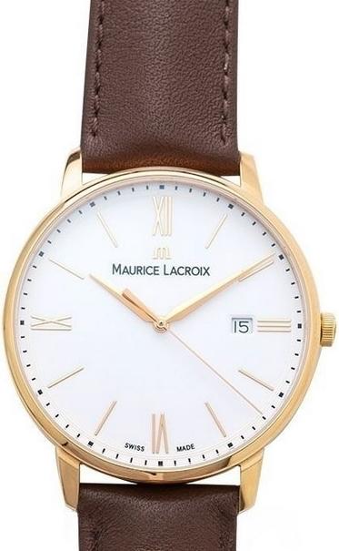 Maurice Lacroix Eliros Date Herreklokke EL1118-PVP01-112-1 Hvit/Lær - Maurice Lacroix
