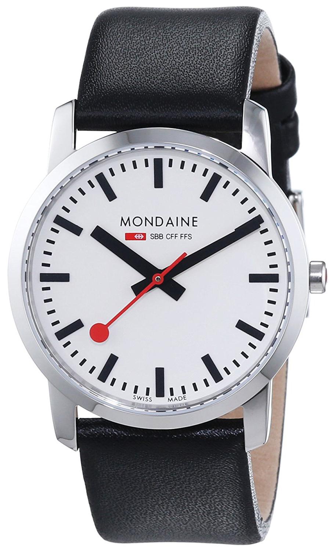 Mondaine Simply Elegant Dameklokke A400.30351.11SBB Hvit/Lær Ø36 mm - Mondaine