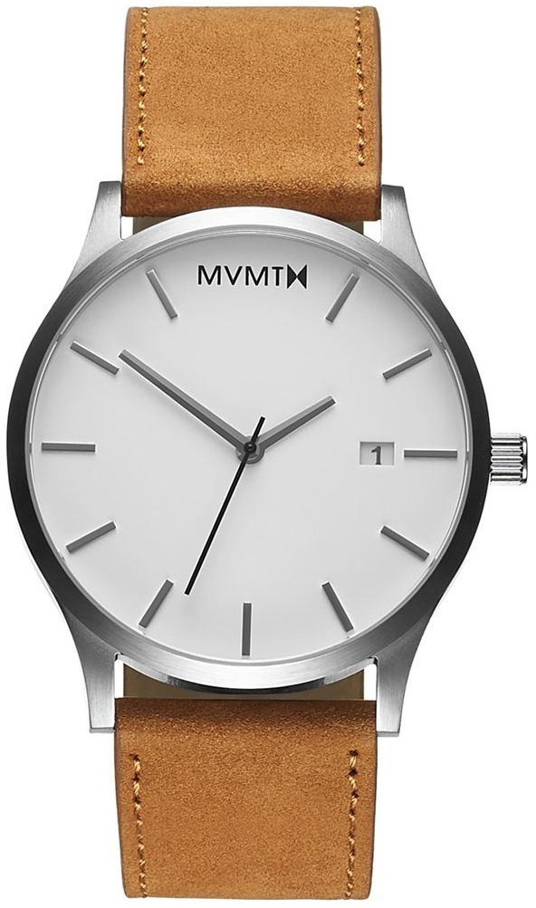 MVMT Classic Herreklokke L213.1L.331 Hvit/Lær Ø45 mm - MVMT