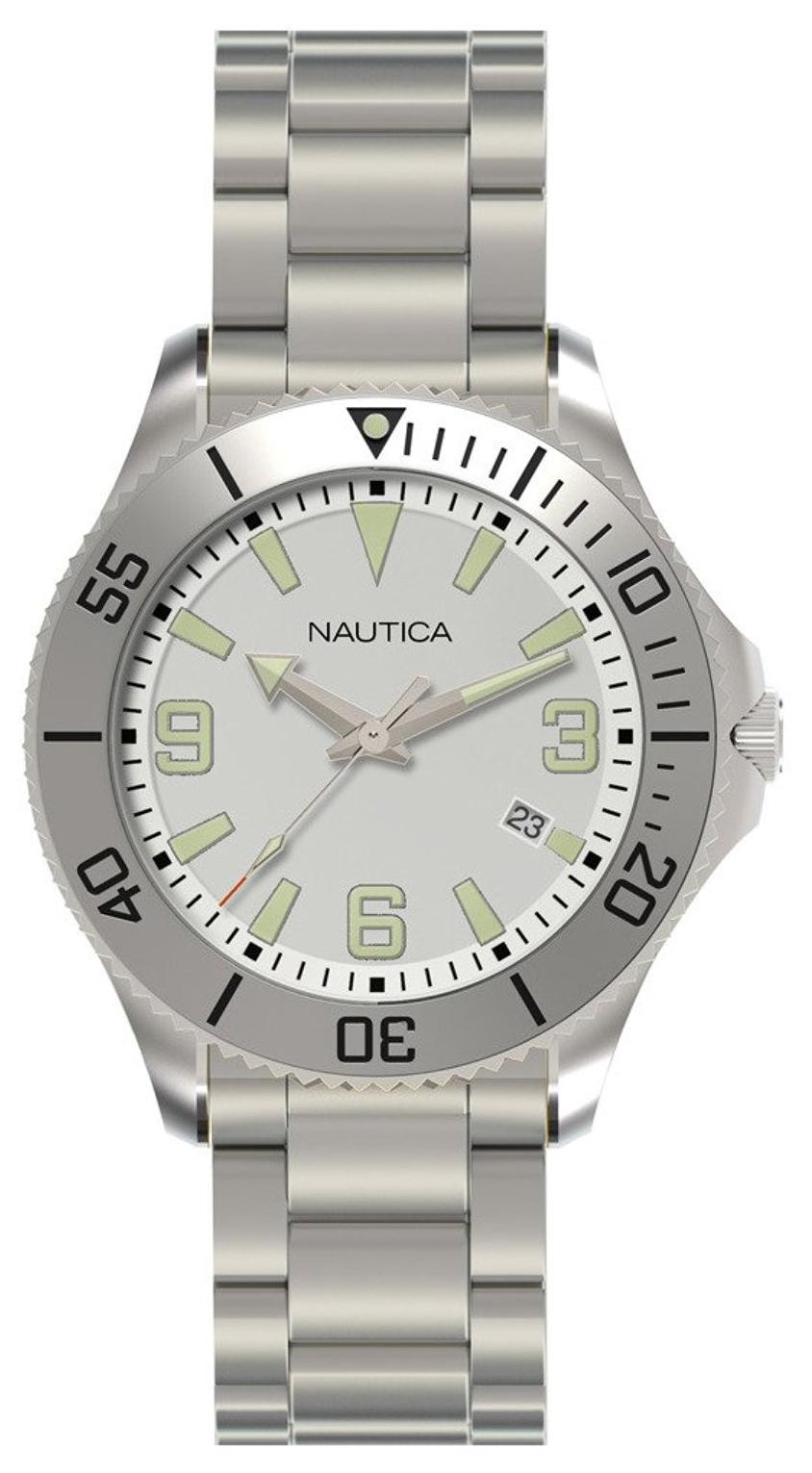 Nautica NAC Herreklokke N11577G Sølvfarget/Stål Ø43 mm - Nautica