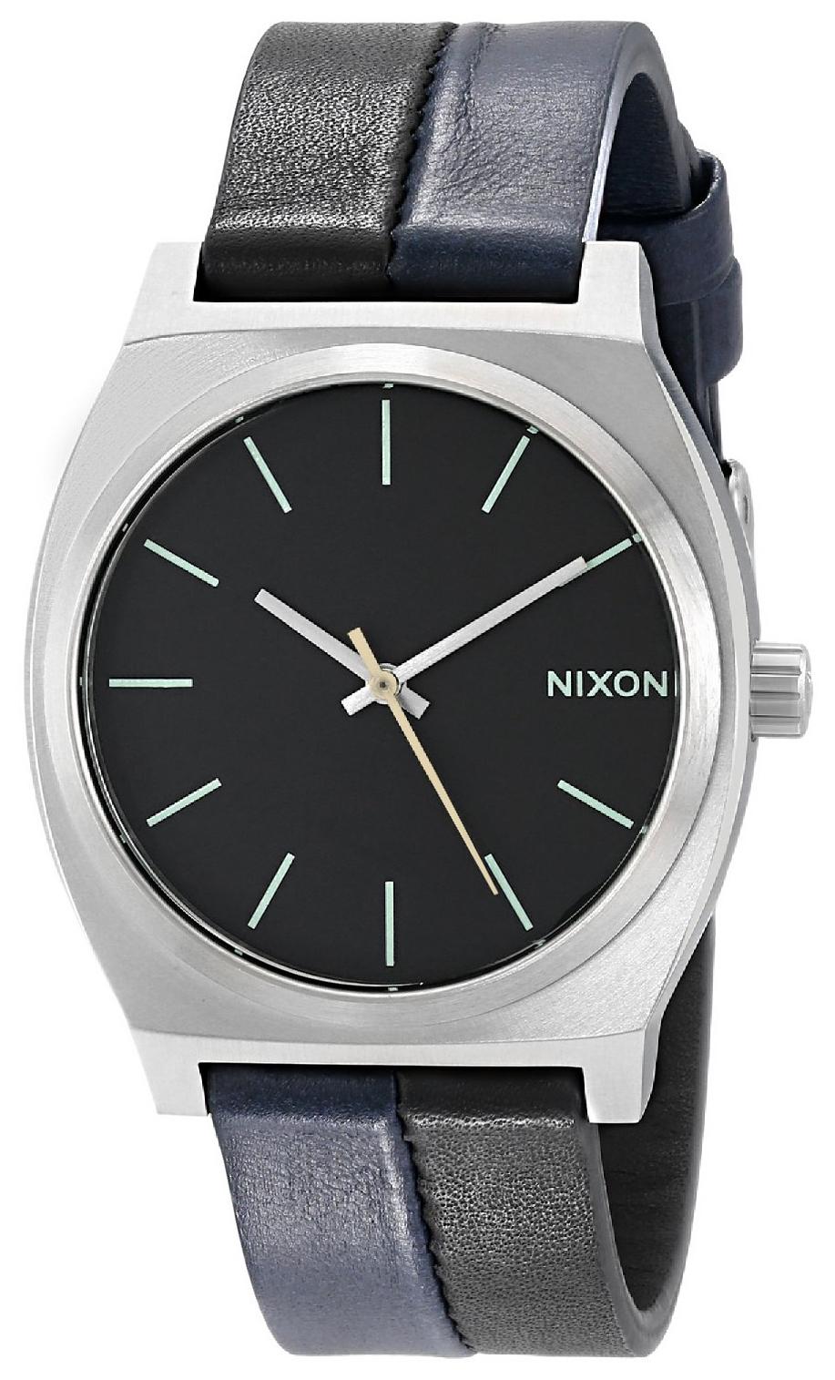 Nixon The Time Teller Herreklokke A0451938-00 Sort/Lær Ø37 mm - Nixon