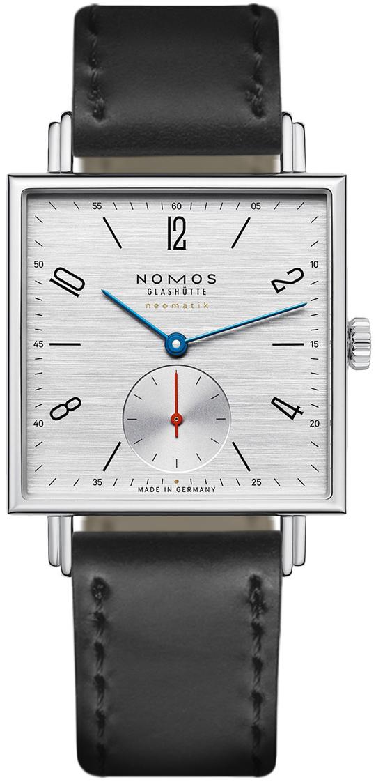 Nomos Glashütte Tetra Herreklokke N-423 Sølvfarget/Lær - Nomos Glashütte