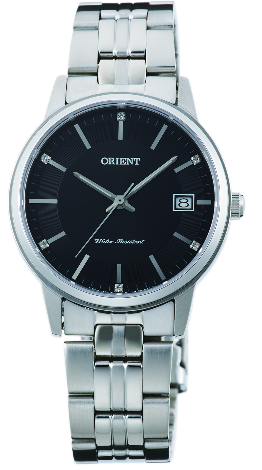 Orient Contemporary Dameklokke FUNG7003B0 Sort/Stål Ø32 mm - Orient