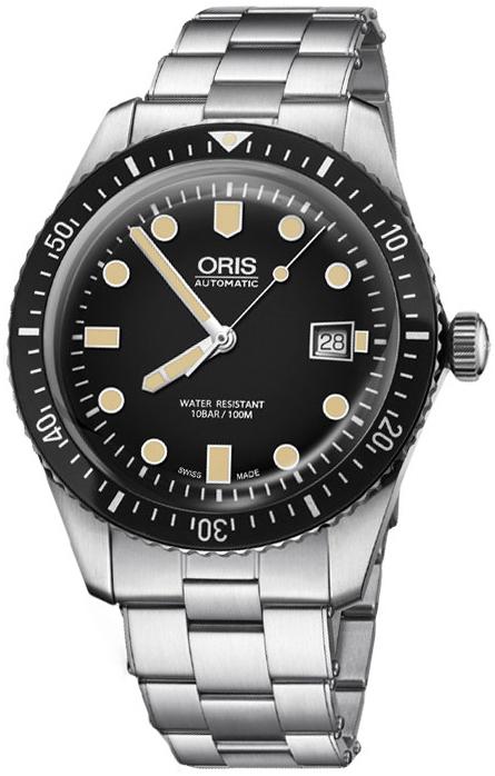 Oris Diving Herreklokke 01 733 7720 4054-07 8 21 18 Sort/Stål Ø42 mm - Oris