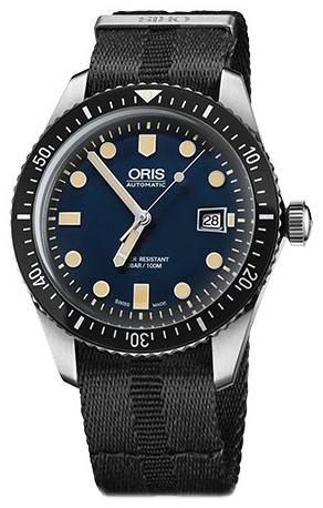 Oris Diving Herreklokke 01 733 7720 4055-07 5 21 26FC Blå/Stål Ø42 - Oris