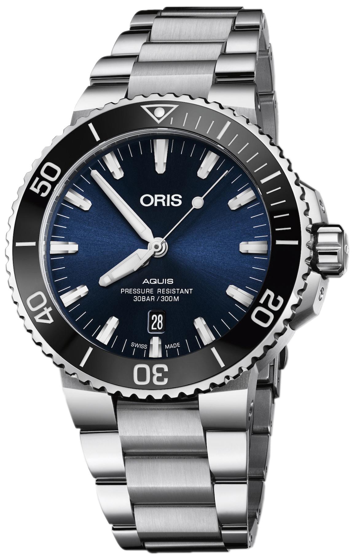 Oris Diving Herreklokke 01 733 7730 4135-07 8 24 05PEB Blå/Stål - Oris