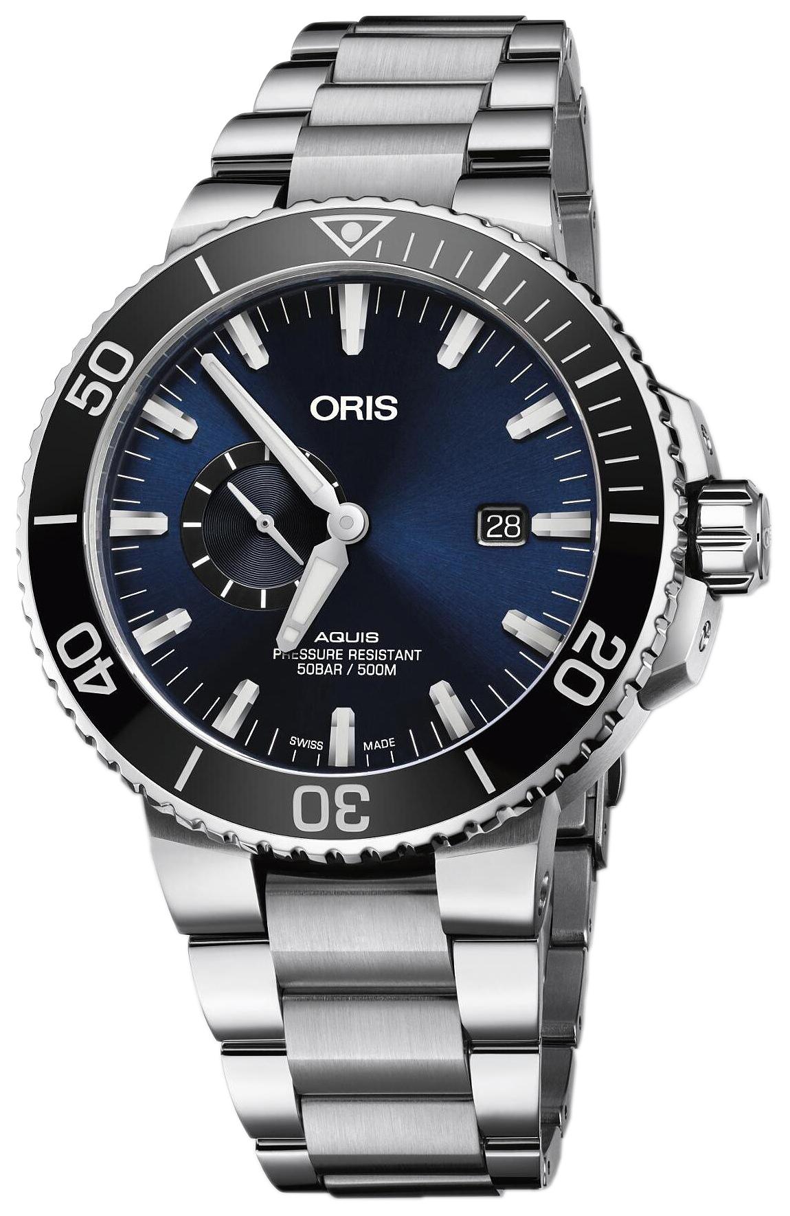 Oris Diving Herreklokke 01 743 7733 4135-07 8 24 05PEB Blå/Stål - Oris