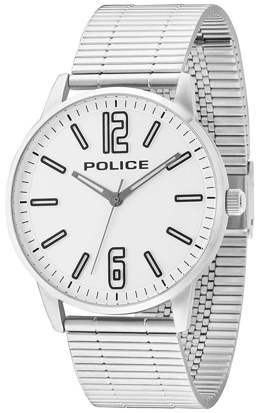 Police 99999 Herreklokke PL14765JS/04M Hvit/Stål Ø43 mm - Police