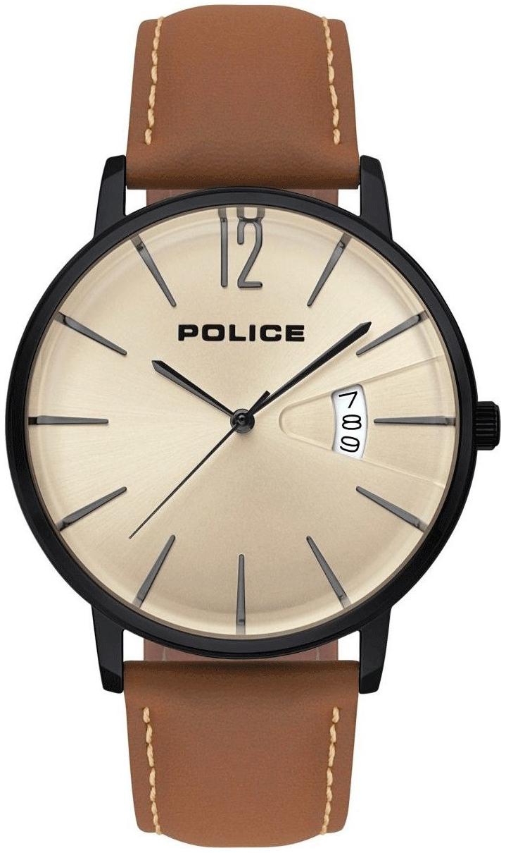 Police 99999 Herreklokke PL15307JSB/07 Beige/Lær Ø44 mm - Police
