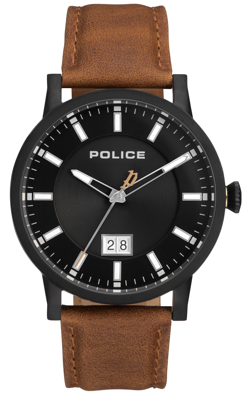 Police 99999 Herreklokke PL15404JSB/02A Sort/Lær Ø42.5 mm - Police