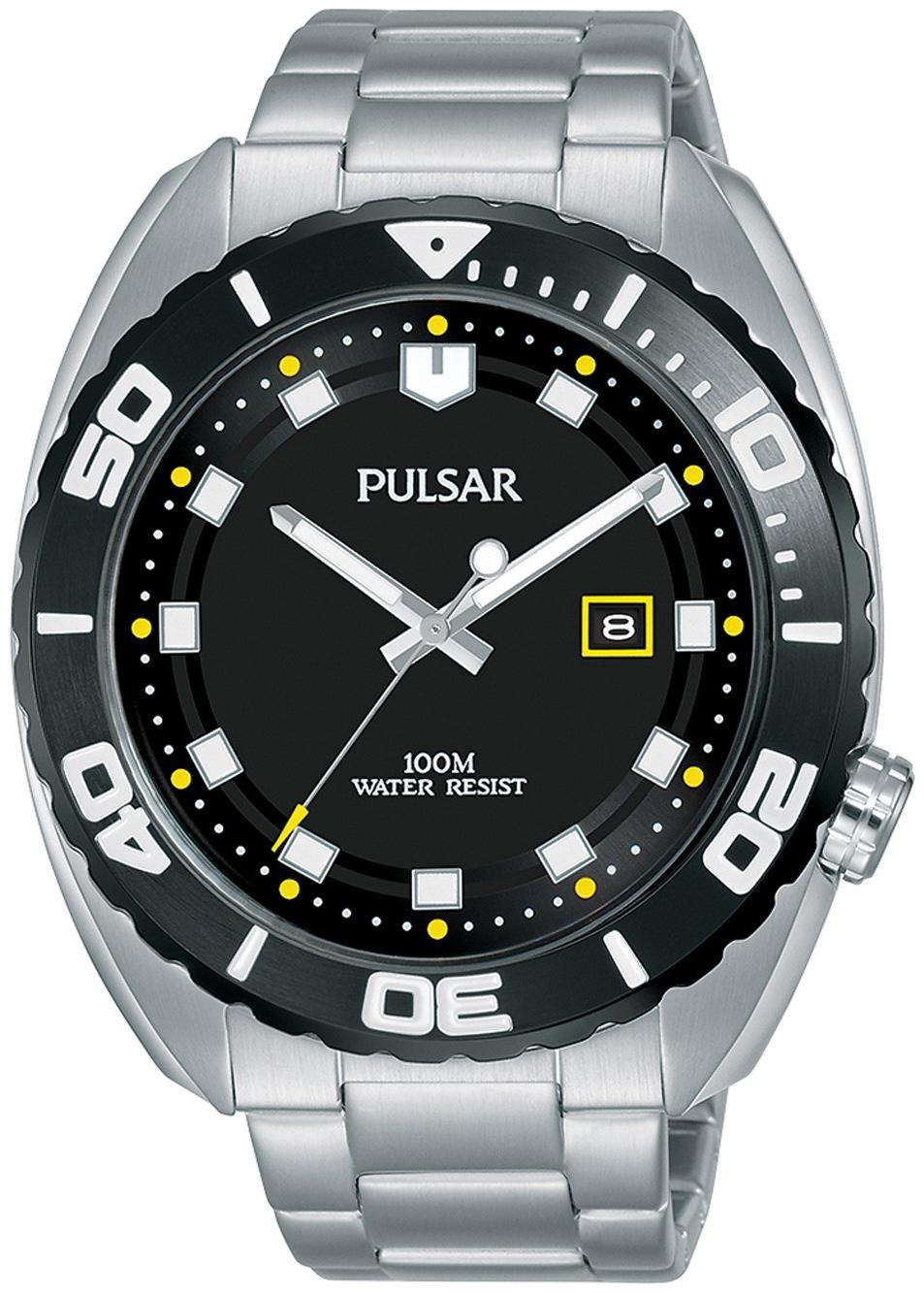 Pulsar Sport Herreklokke PG8283X1 Sort/Stål Ø45 mm - Pulsar