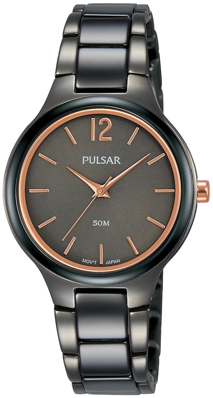 Pulsar 99999 Dameklokke PH8435X1 Grå/Keramik Ø30 mm - Pulsar