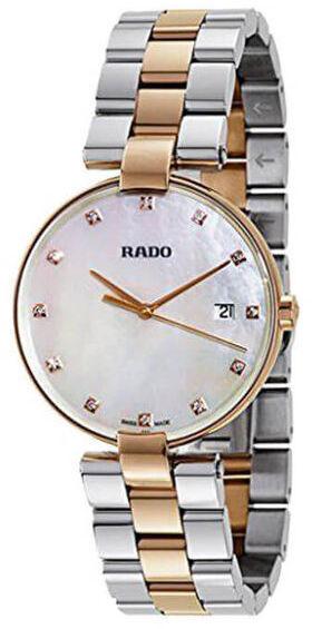Rado Coupole Dameklokke R22853924 Hvit/Rose-gulltonet stål Ø36 mm - Rado