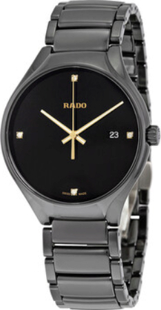 Rado True Herreklokke R27238712 Sort/Keramik Ø40 mm - Rado
