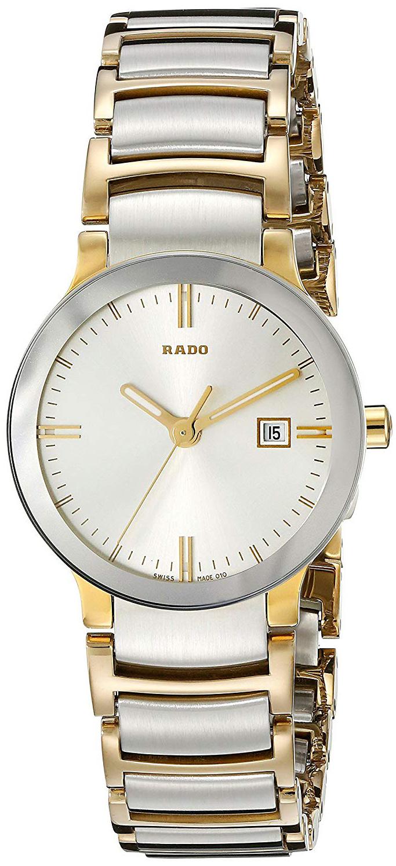 Rado Centrix Dameklokke R30932103 Sølvfarget/18 karat gult gull Ø28 - Rado