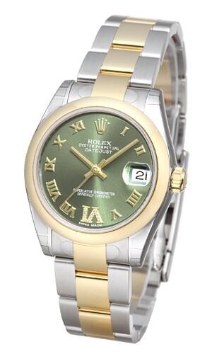 Rolex Datejust 31 Dameklokke 178243-0076 Grønn/Stål Ø31 mm - Rolex