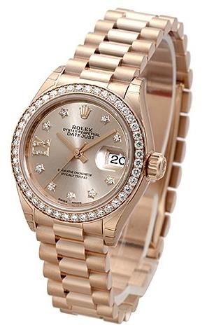Rolex Lady-Datejust 28 Dameklokke 279135RBR-0003 Champagnefarget/18 - Rolex